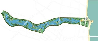 Baiguoshu Rivier landschapsplan