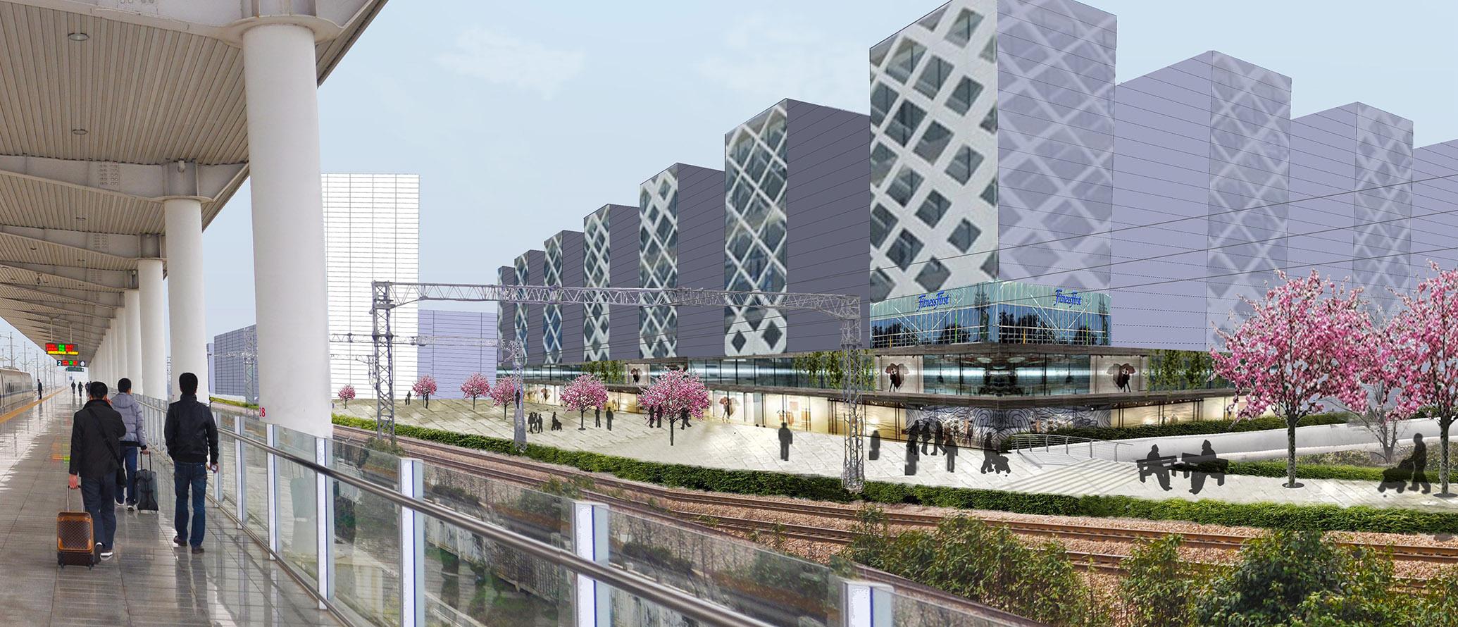 Kunshan stedenbouwkundige hogesnelheidstrein